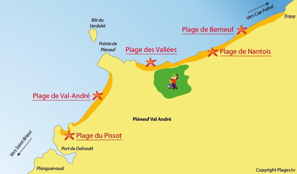 Appel aux Bretons & Bretagne-Addicts  Plan-plages-pleneuf-val-andre-bretagne