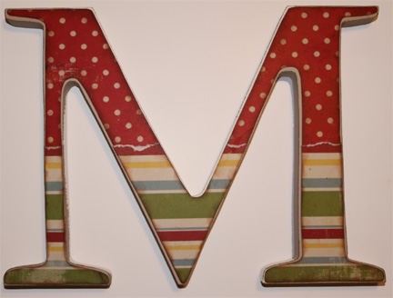 # حـــــــــــــــــــــروف رومانسية ¸ Wooden-alphabet-letter
