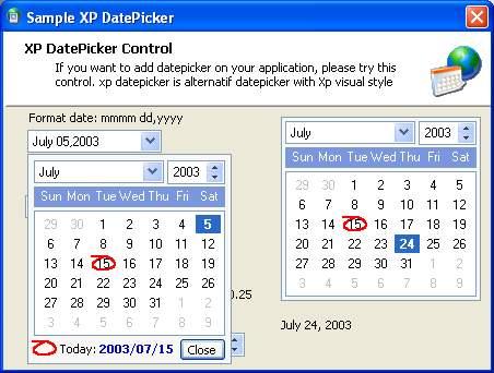حمل اداة التاريخ XP DTPicker  PIC200371506559387