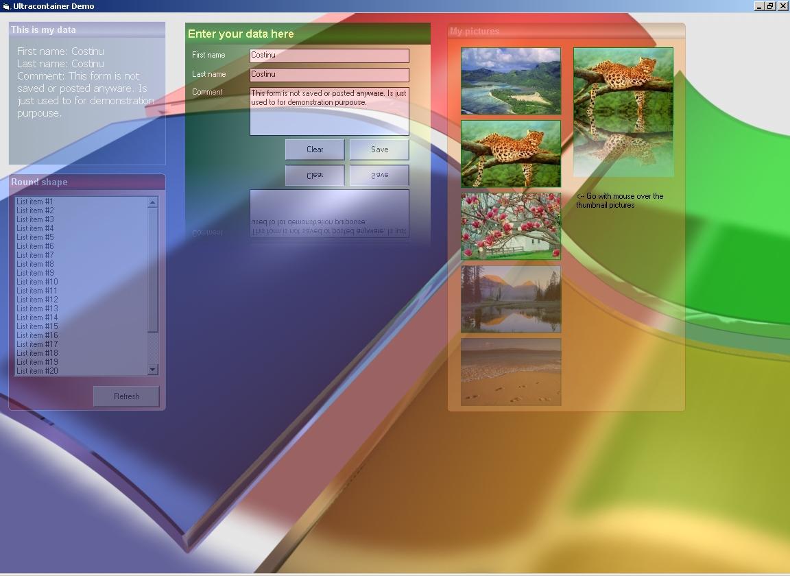 الحاوية UltraContainer التى تقوم بعمل تاثيرات رائعة على العناصر التى بها  PIC20091010121563336