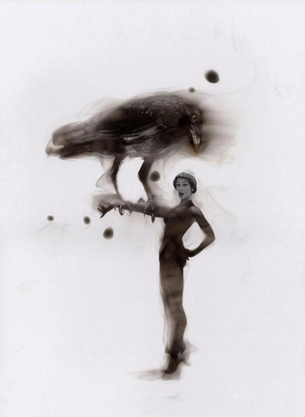 Pintura Con Fuego: Artista Dibuja Con Llamas Y Hollín Source-l4nCo8GJL1