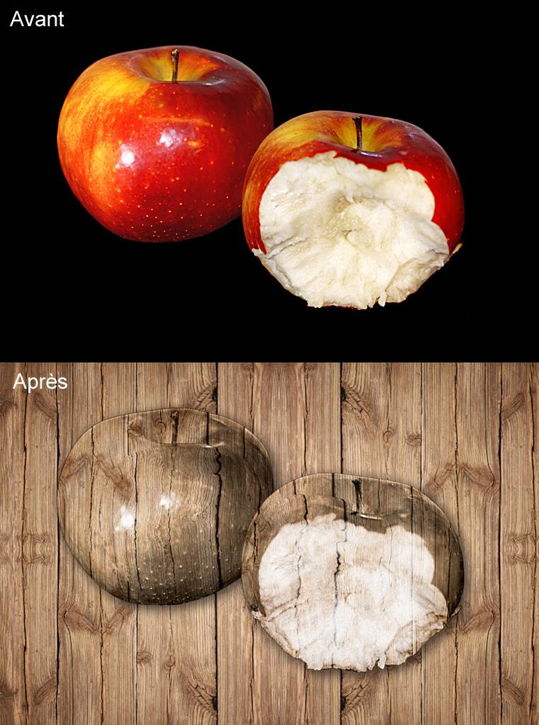 Des pommes en bois Pomme-bois