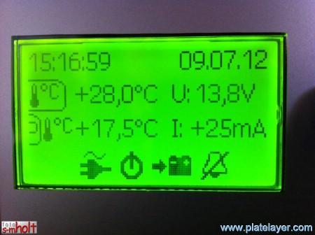 Hvor er innvendig temperatursensor for Alde 3010 montert? Temp100