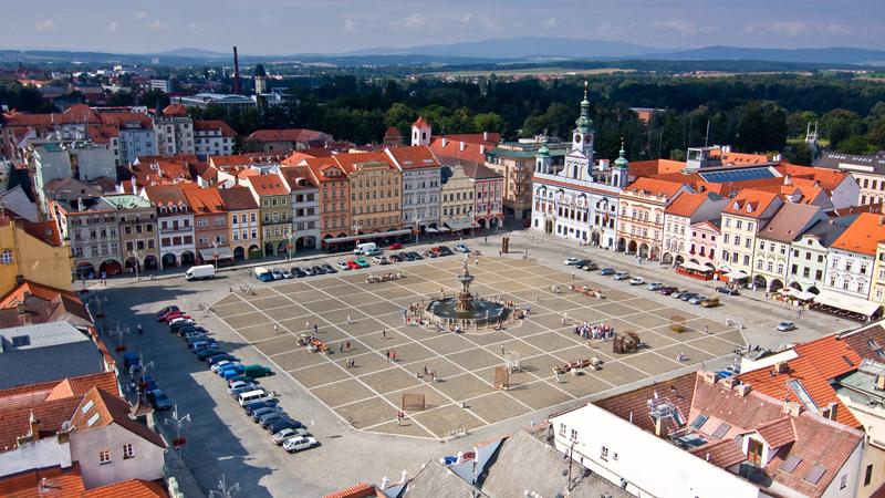 Češka Ceske-budejovice-glavni-trg