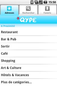 [SOFT] QYPE : Trouver un point intéressant autour de vous [Gratuit?] Qype-android