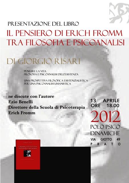 Presentazione del Libro: Il pensiero di Erich Fromm tra filosofia e psicoanalisi Giorgio-Risari-LIGHT