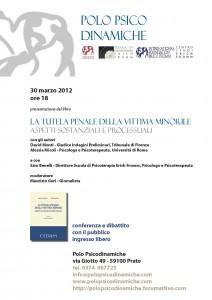 """30 marzo 2011 - Presentazione del Libro """"LA TUTELA PENALE DELLA VITTIMA MINORILE"""" PRESENTAZIONE-DEL-LIBRO-MONTI-GORI-212x300"""