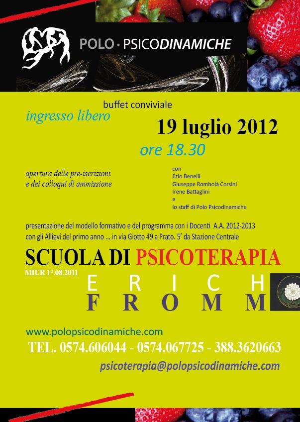 Presentazione della Scuola di Psicoterapia Erich Fromm A.A. 2012-2013 Present-scuola-psicoterapia2
