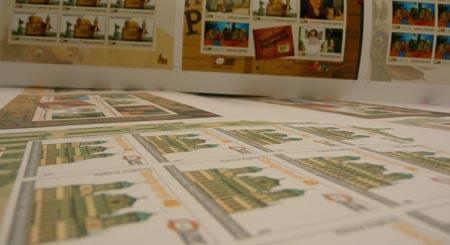 Die Entstehung einer Briefmarke Markenbogen