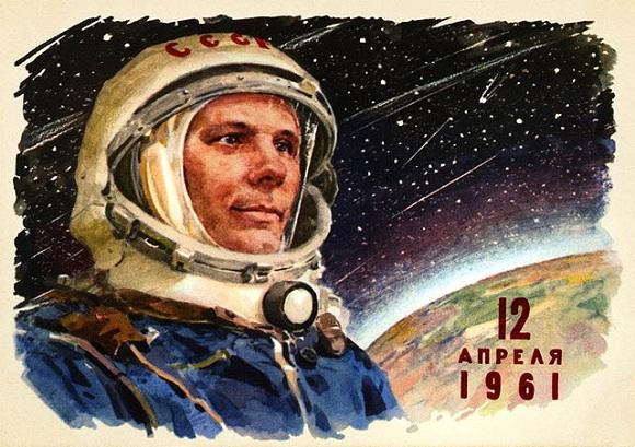 56 aniversario del viaje de Yuri Gagarin, primer humano en viajar al espacio. Yuri_gagarin_illustration1