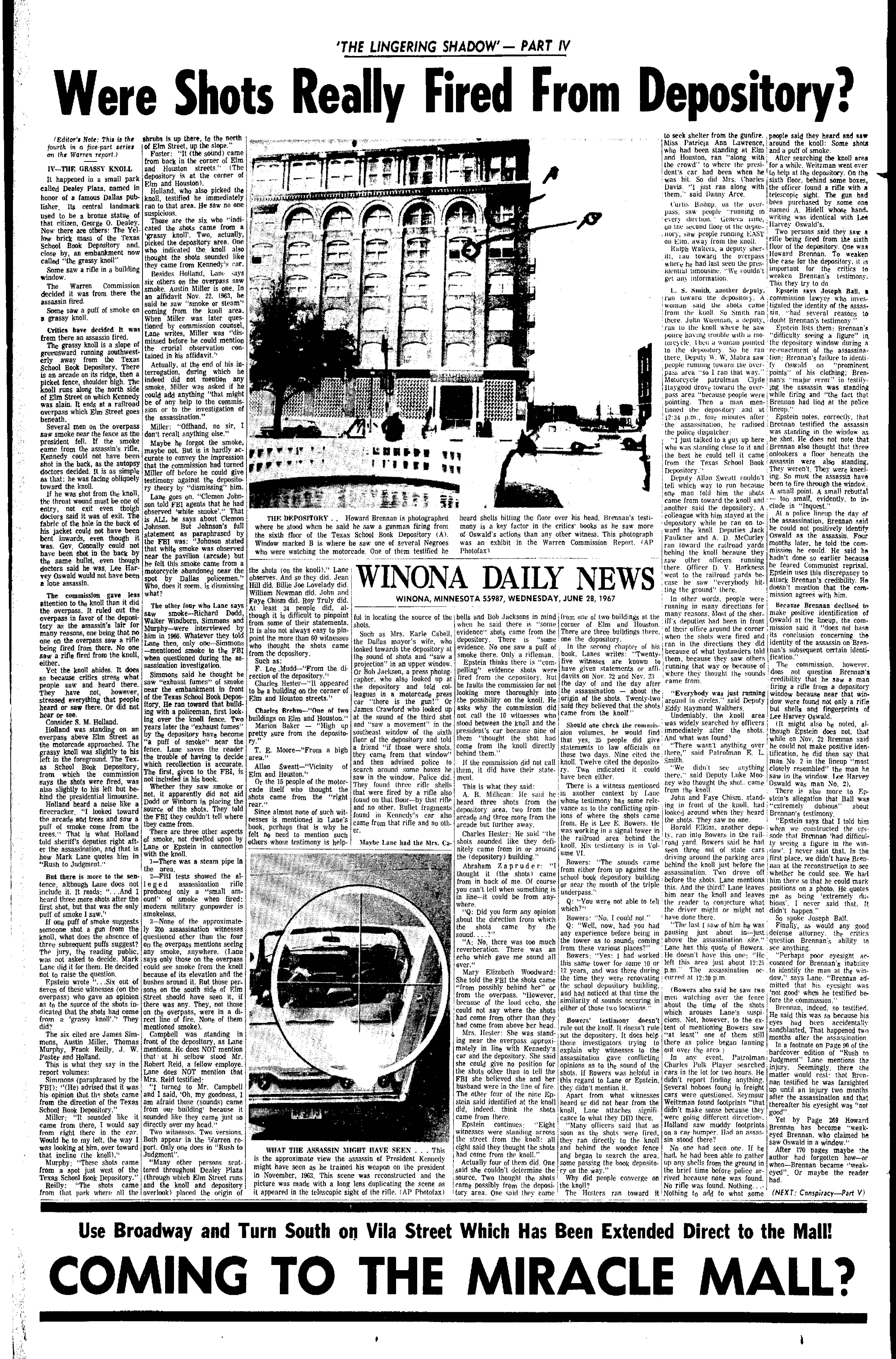 Floor - No Shots Fired From The TSBD - Page 5 Inona-Daily-News-June-28-1967