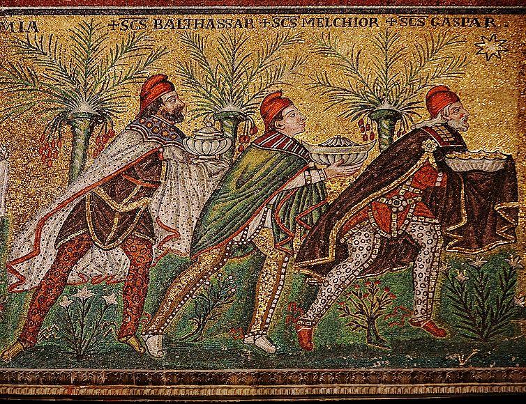 Los magos de Oriente. Dedicado a ampalab y numismático2013 Mosaico-de-San-Apolinar.-Siglo-VI
