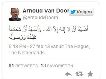 منتج فييلم مسيء للرسول يعتنق الإسلام Doorn