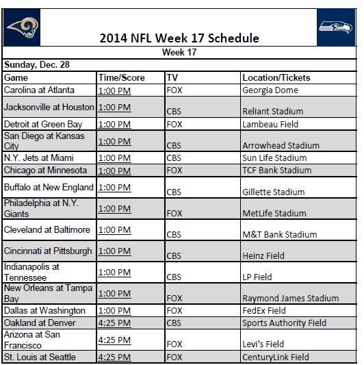 Week 17 2014-NFL-Week-17-Schedule