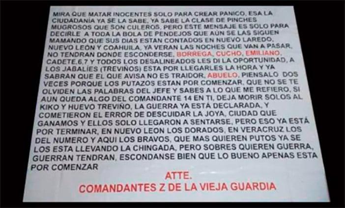 Columna Armada Pedro José Mendez (grupo ciudadano expulsa a narcos del municipio de Hidalgo, Tamaulipas) Matar-zetas