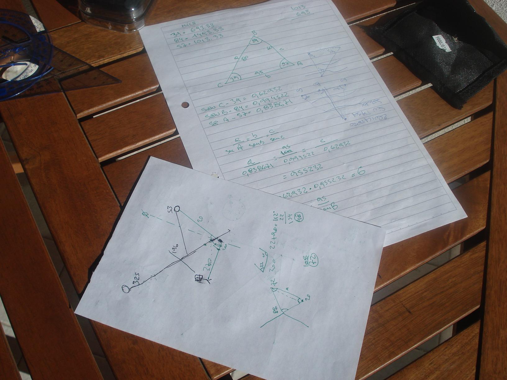 Un pequeño kit de brújulas, protractors (compases) y reglas de escala... y algo más. DSC00451