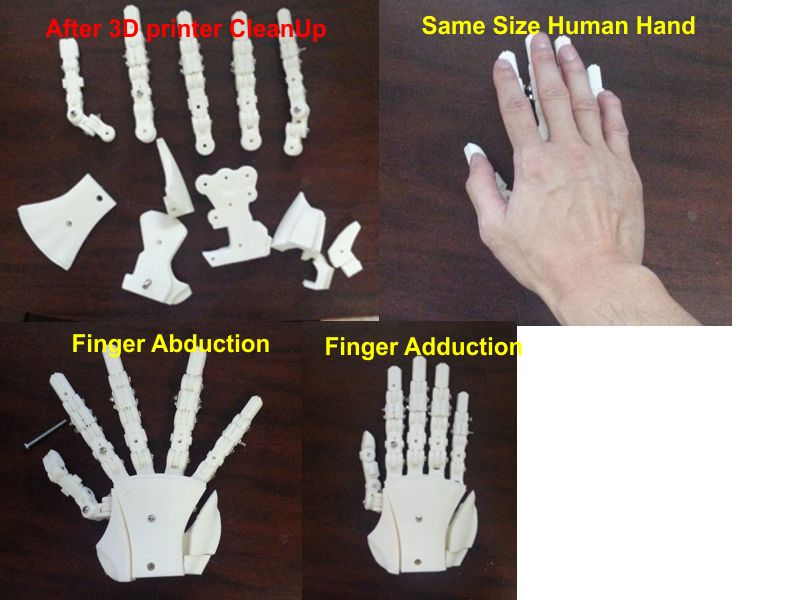 Aiko New Hand V2 from 3d printer HandFinal01
