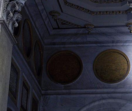 Médaillons des papes: il en reste plusieurs après Benoît XVI Medaillons-retour-mur-saint-paul