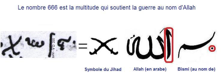 Etude sur le nombre de la bete Bismi-allah-antichrist-666