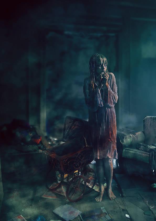 مايا وايوان فى المكان المعلون  Dark-horror-room-photoshop-tutorial