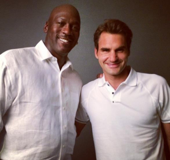 ¿Cuánto mide Michael Jordan? - Altura - Real height Federer_jordan