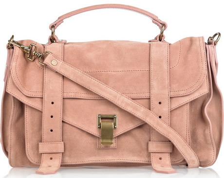 Underrated Designer bag brands Proenza-Schouler-PS1-rose-suede