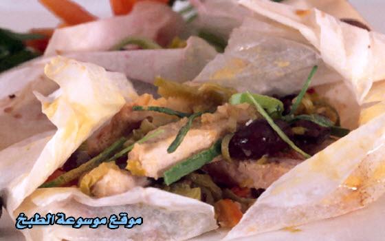 طريقة عمل محشي الدجاج والجزر والكراث Packages-chicken-carrots-and-leeks-cooking-and-recipes