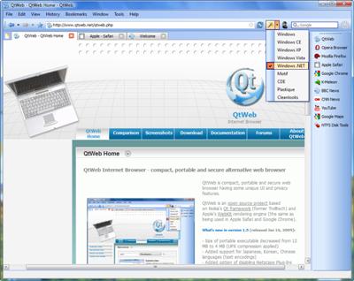 متصفح الإنترنت Qtweb الإصدار 3.7 للتحميل .. QtWeb
