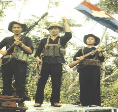 scènes de combats Vietcong