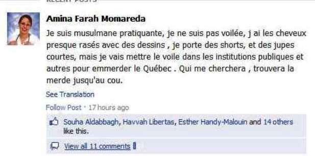 Michel blogue avec Manon /sujet/l'incroyance le respect la croyance/ Amina_Farah