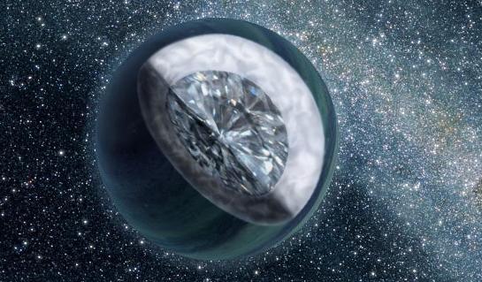 """Descubren un """"planeta diamante"""", dos veces más grande que la Tierra Planetadediamante"""