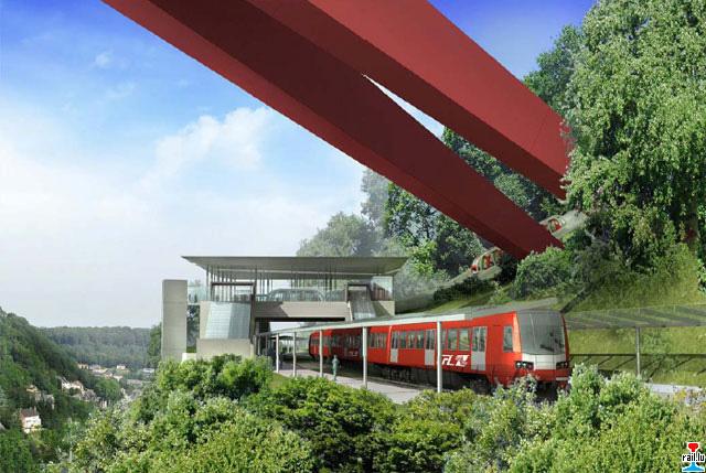 """Création nouvelle gare ferroviaire """"Pont Rouge"""" et création d'un funiculaire  Gare-pont-rouge"""