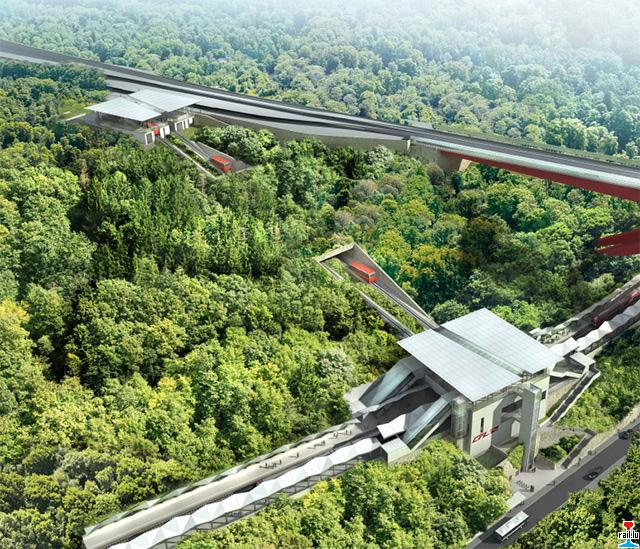 """Création nouvelle gare ferroviaire """"Pont Rouge"""" et création d'un funiculaire  Gare-pont-rouge4"""
