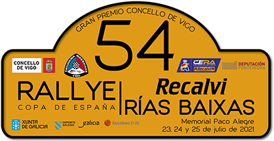 CERA: 54º Rallye Recalvi Rias Baixas [23-25 Julio] Placa