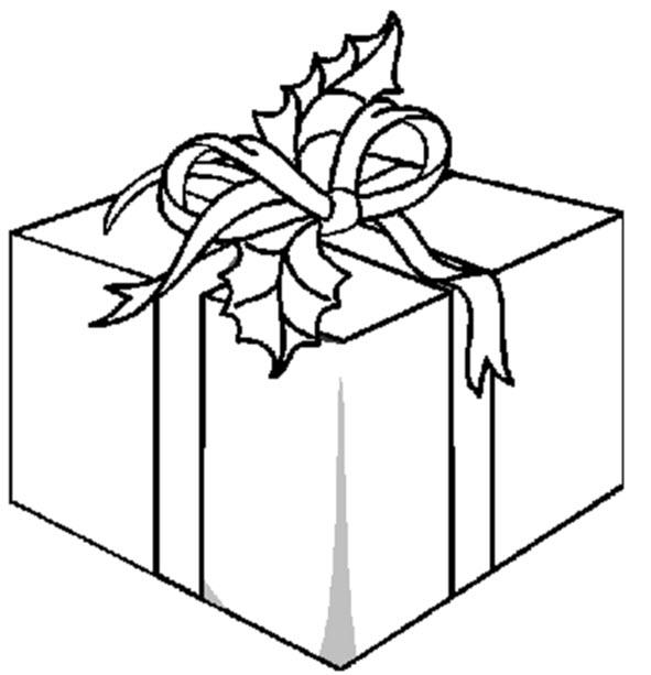 Concours de Noël 2009 (page sapin =1) - Page 2 Cadeau-de-noel-a-colorier