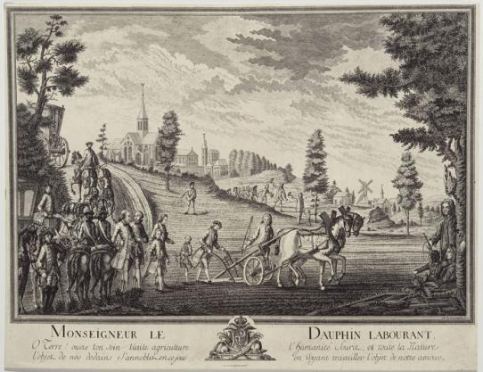 L'éducation du roi à la cour de France 1761-cour-Monseigneur_gallerie