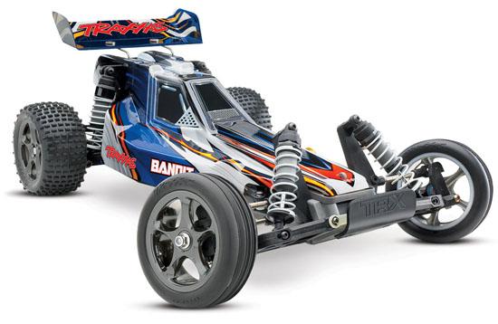 Quelle voiture radiocommandée tout terrain électrique choisir pour débuter? La liste des RTR du marché! Traxxas-Bandit-VXL-2408