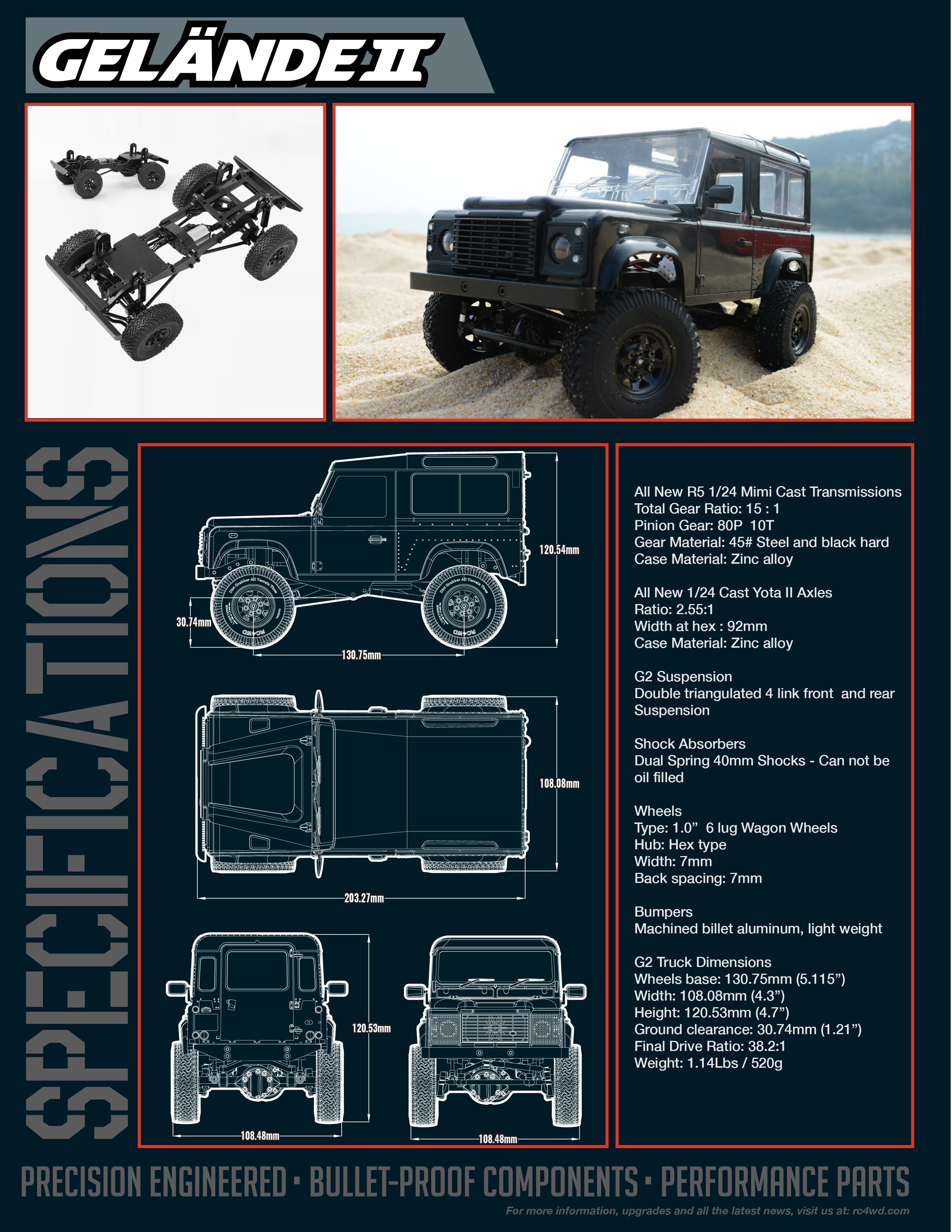 RC4WD Gelande Defender 90 1/18! Z-RTR0026-4