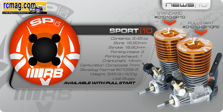 [NEWS] RB product Sport 10 pull start (3.5 a lanceur) RB_SP10