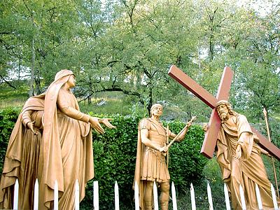 CHEMIN DE CROIX - Retour chemins de Croix/avec Jean-Paul II Lourdes_stations_04