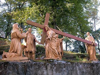 CHEMIN DE CROIX - Retour chemins de Croix/avec Jean-Paul II Lourdes_stations_06