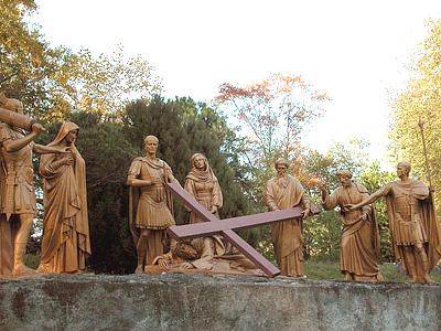 CHEMIN DE CROIX - Retour chemins de Croix/avec Jean-Paul II Lourdes_stations_09