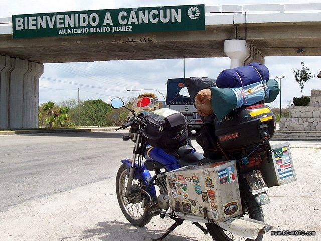 Préparation XR 125 pour un voyage en Afrique 03656-MEX-Cancun