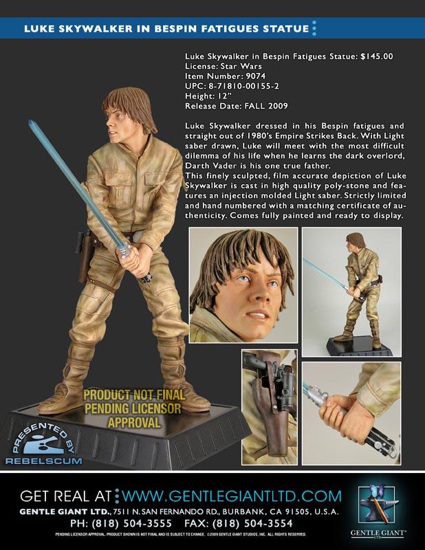 Luke Skywalker Bespin Statue GGS-SalesSheet-LukeBespin