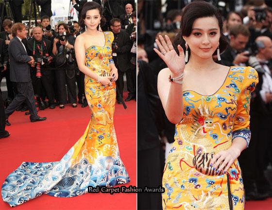 Red Carpet At Cannes Film Festival 2010 Fan-bingbing-robin-hood