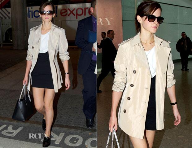 მსოფლიო მოდის (სტილის) აიქონები !!!  Emma-Watson-In-Sandro-Londons-Heathrow-Airport