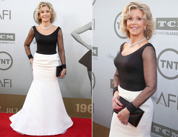 Totally Related to Nothing About George But Talk About Aging Well! Jane-Fonda-In-Vera-Wang-2014-AFI-Life-Achievement-Award-A-Tribute-to-Jane-Fonda