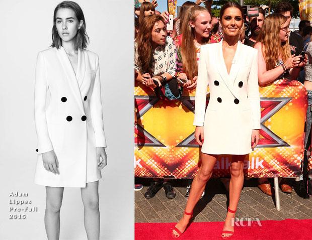 Fashion, Moda, Maquillaje de Girls Aloud - Página 5 Cheryl-Fernandez-Versini-In-Adam-Lippes-X-Factor-London-Auditions