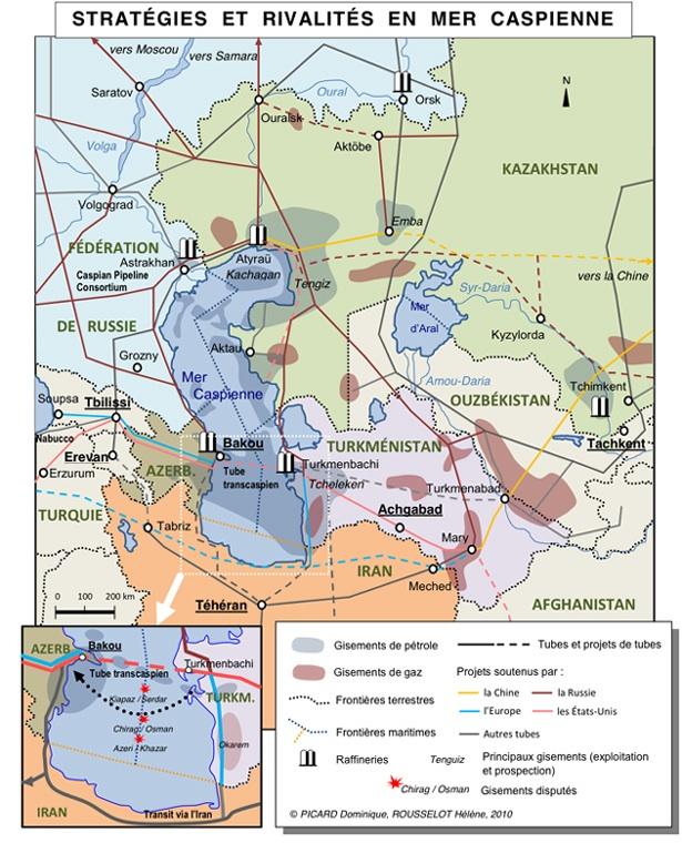 opération - Dossier : Opération Kazakhstan, nouvel eldorado mondial et de la France ! Carte-Caspienne