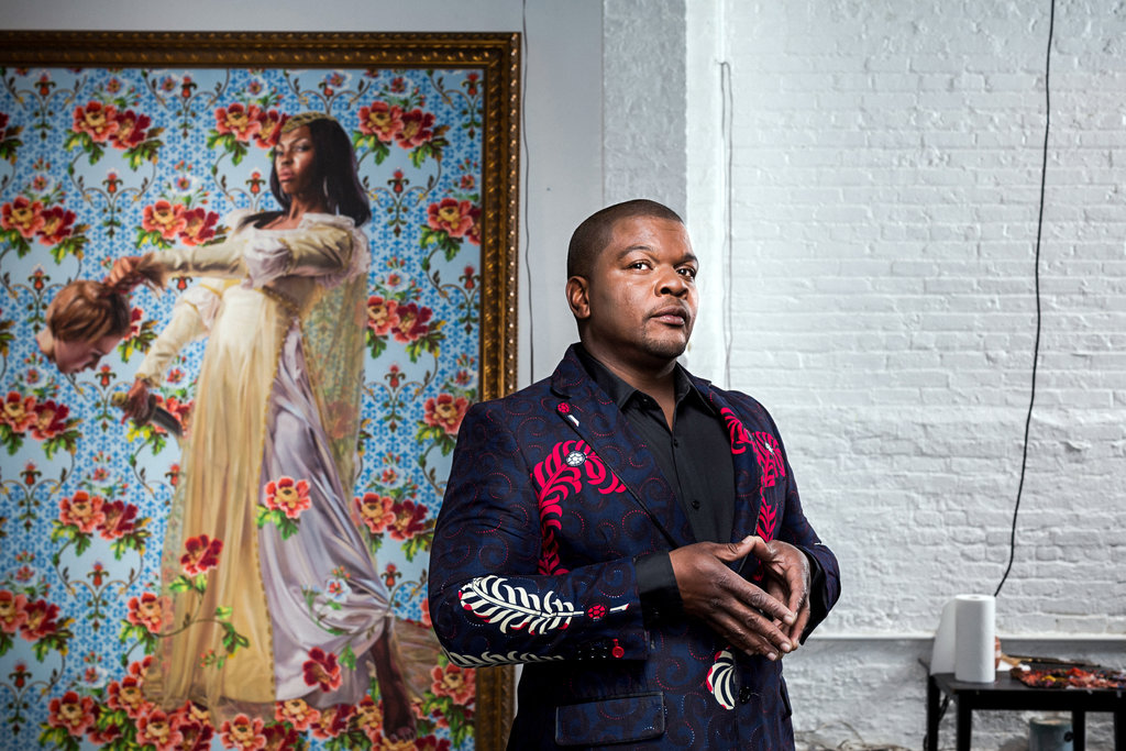 About that Michael Obama Painting... Kehinde-wiley-2015-chad-batka-for-the-new-york-times
